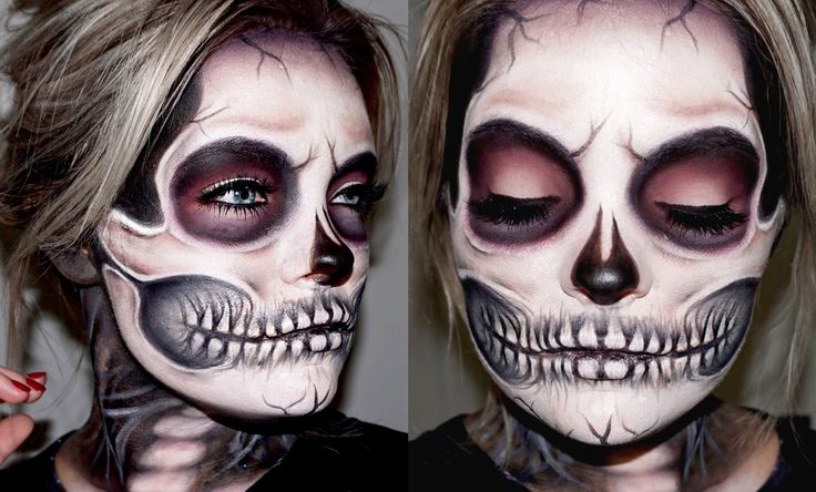 SKELETON / SKULL MAKEUP TUTORIAL | Brianna Fox
