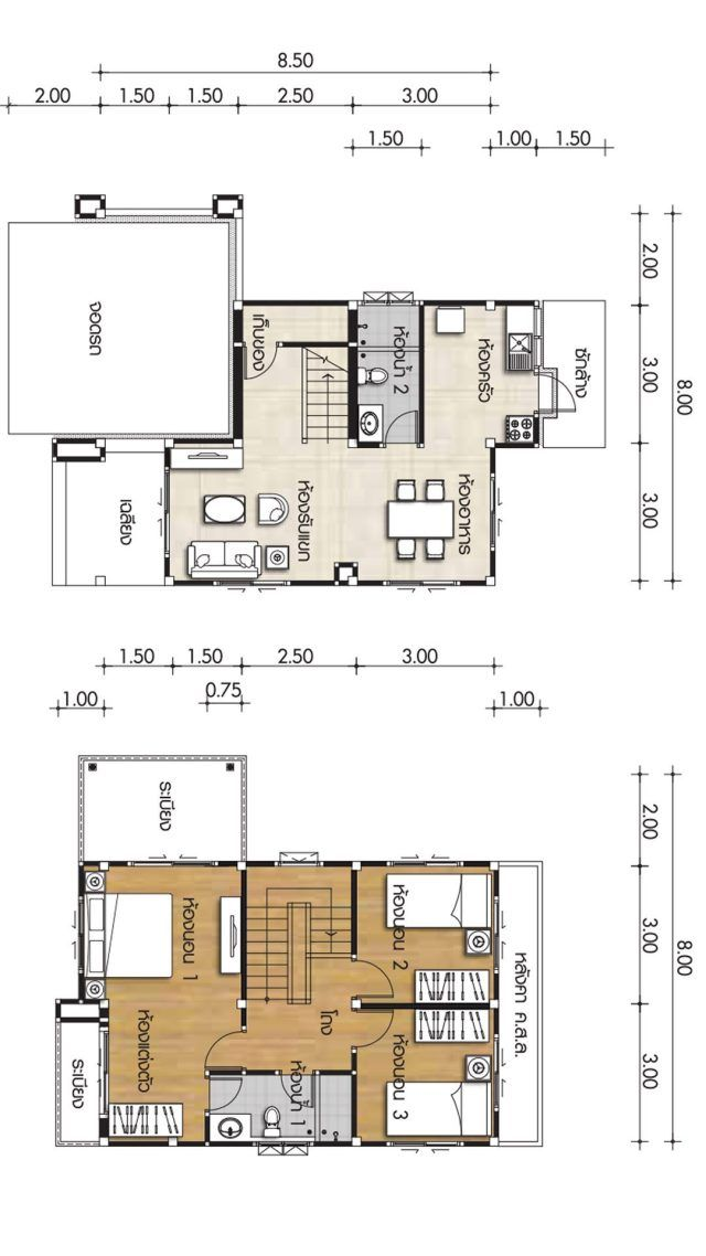 House Plans 8x8 5m With 3 Bedrooms Home Ideassearch House Plans Arlington House Home Design Plan