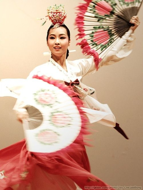 Buchaechum is a traditional form of Korean dance also called a fan dance…