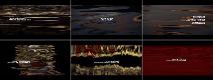 Title sequence for Cape Fear. Designed by Saul Bass. #animation #illustration #design #credit
