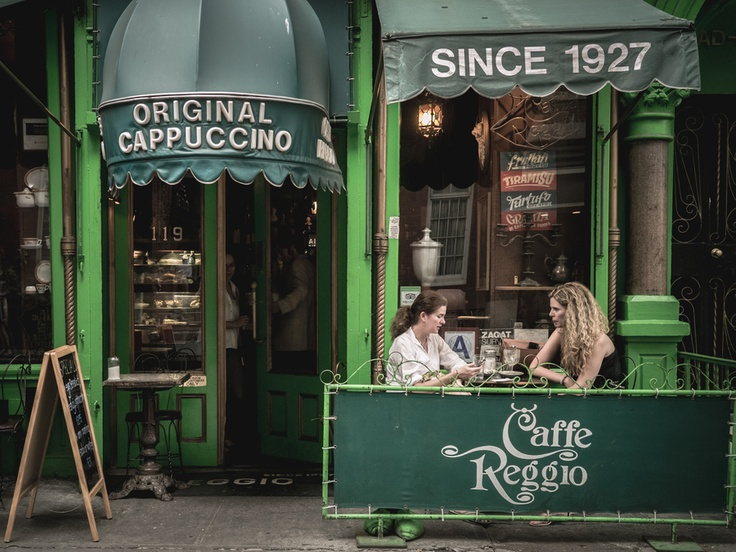 Caffe Reggio is the first caffe in the United States to serve Cappuccino. Located on MacDougal Street in Greenwich Village, New York City