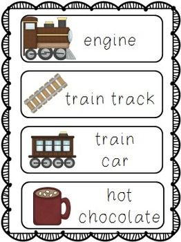 Write the room cards that correspond to The Polar Express