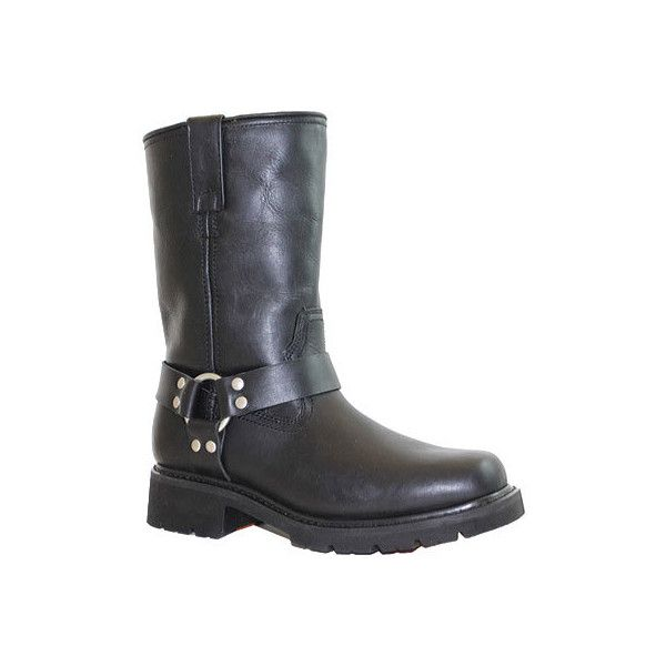 Men's Ride Tecs 1446 Harness Motorcycle Boot - Black Casual ($134) ❤ liked on Polyvore featuring men's fashion, men's shoes, men's boots, black, casual, casual shoes, mens black shoes, mens biker boots, mens boots and mens black harness boots