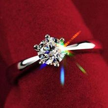 Best Quality Women Clear Zircon Inlaid Wedding Bridal Engagement Party Jewelry Ring Size 6-9
