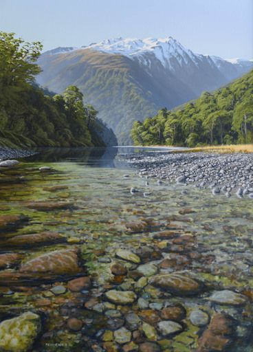 The Haast River....artist Peter Geen