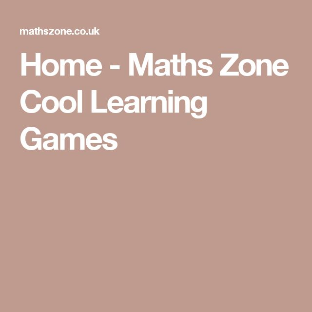 Home - Maths Zone Cool Learning Games