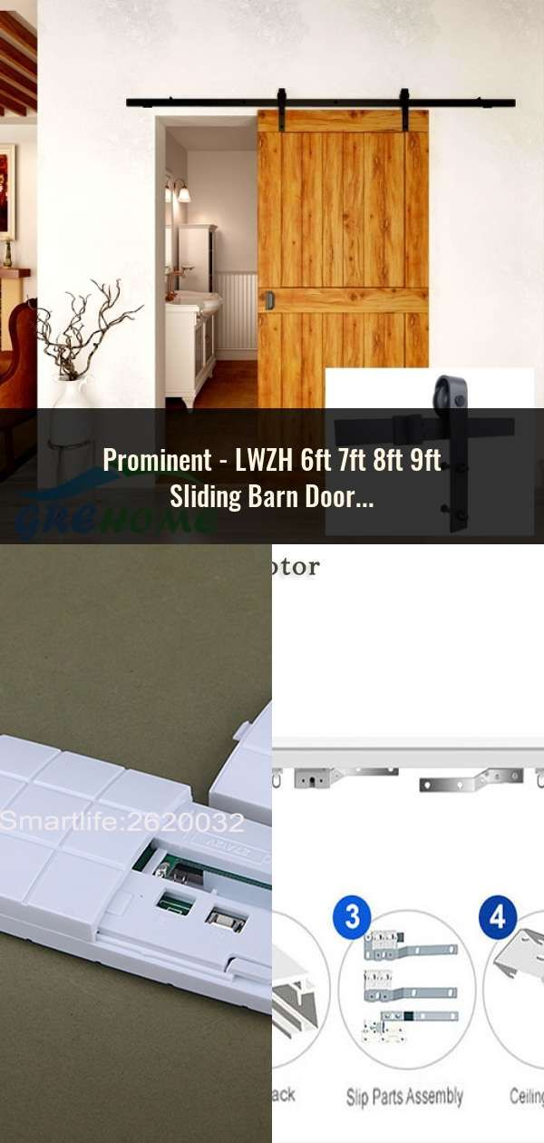 Doors, Gates & Windows Lwzh 6ft 7ft 8ft 9ft Sliding Barn Door Hardware Kit Top Mounted Hanger Track Black Steel Closet Door Roller Rail For Single Door