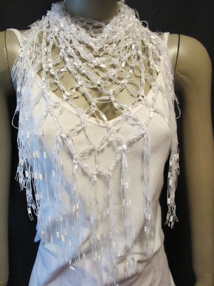 Love Knot Neck Scarf Shawl Crochet Pattern Downloadable