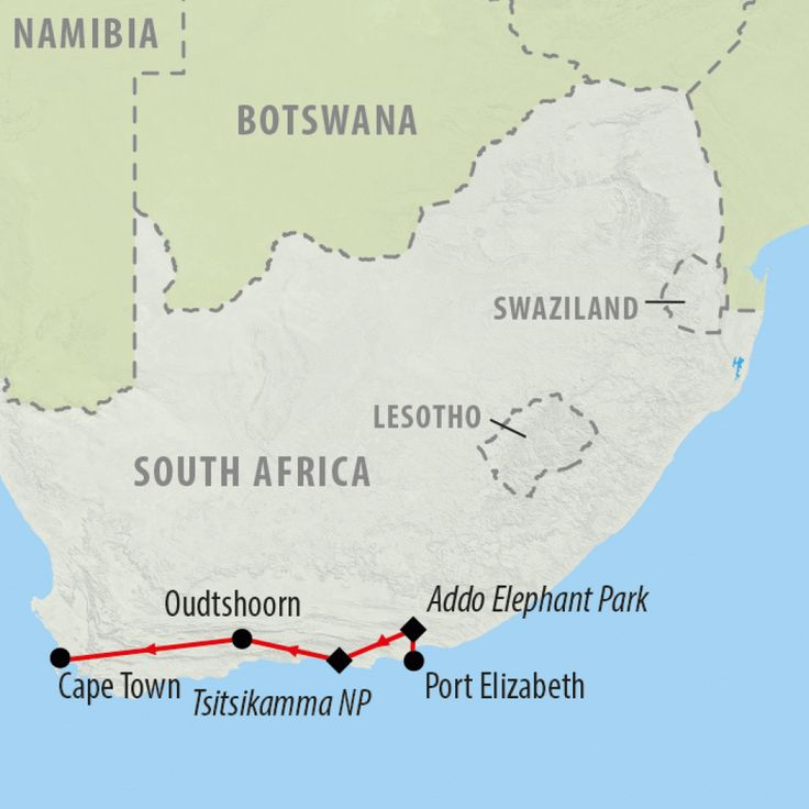 Travel from Port Elizabeth to Cape Town taking in the wonders of South Africa's Garden Route on this 7 day adventure escorted by a knowledgeable guide.