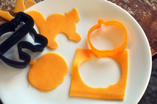 Cheese Creatures Get creative with those cookie cutters and use them for things other than cookies!