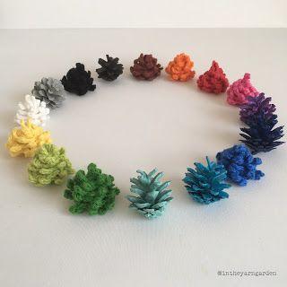 In the Yarn Garden: Crochet pine cones