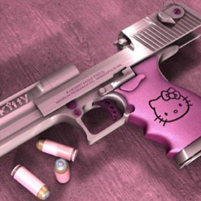 haha yessBangbang, Friends, Bangs Bangs, Deserts Eagles, Pink Guns, Hellokitty, Girly Girl, Bullets, Hello Kitty Guns