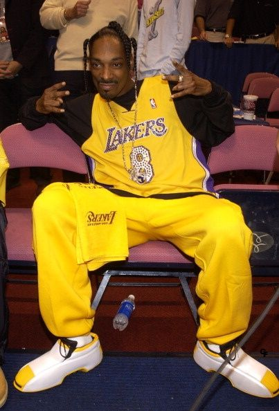 Snoop Dogg (at Game 4 of the NBA Finals with the Los Angeles Lakers and the New Jersey Nets)