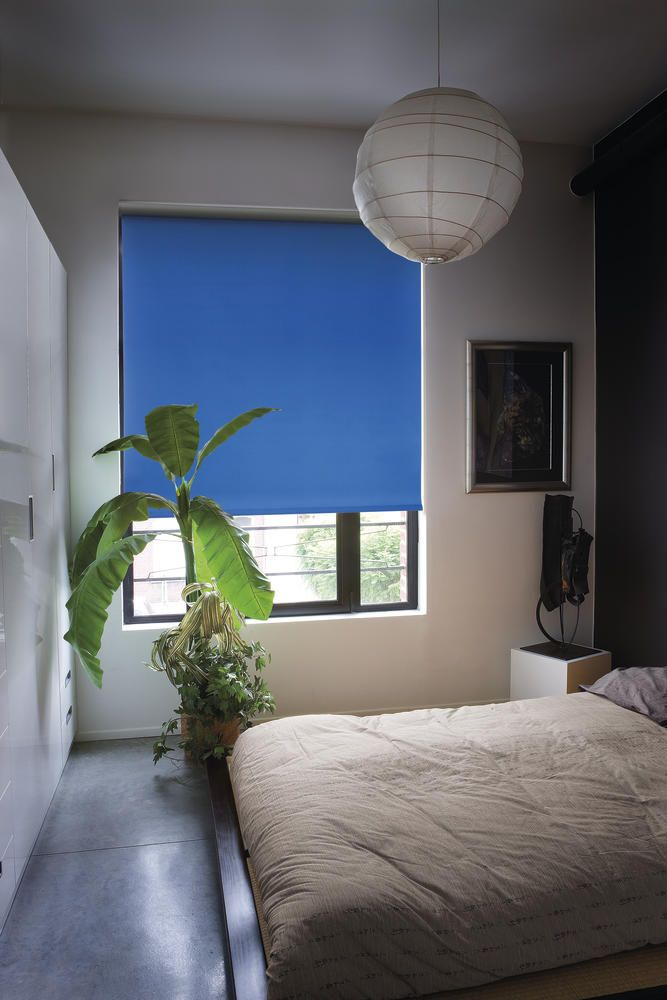 Copahome rolgordijn verduisterend, black out, blauw / Stores enrouleurs obscurci bleu