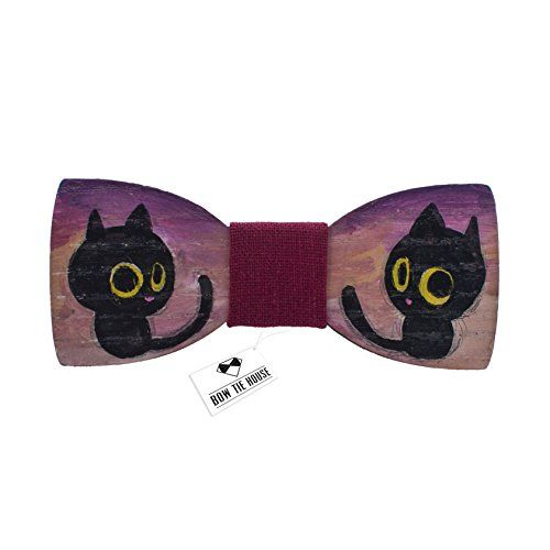 Tiny cat painted bow tie wood bow tie - red color, black ... https://www.amazon.com/dp/B01F3KZ0KQ/ref=cm_sw_r_pi_dp_x_EIGKybA73YQQD