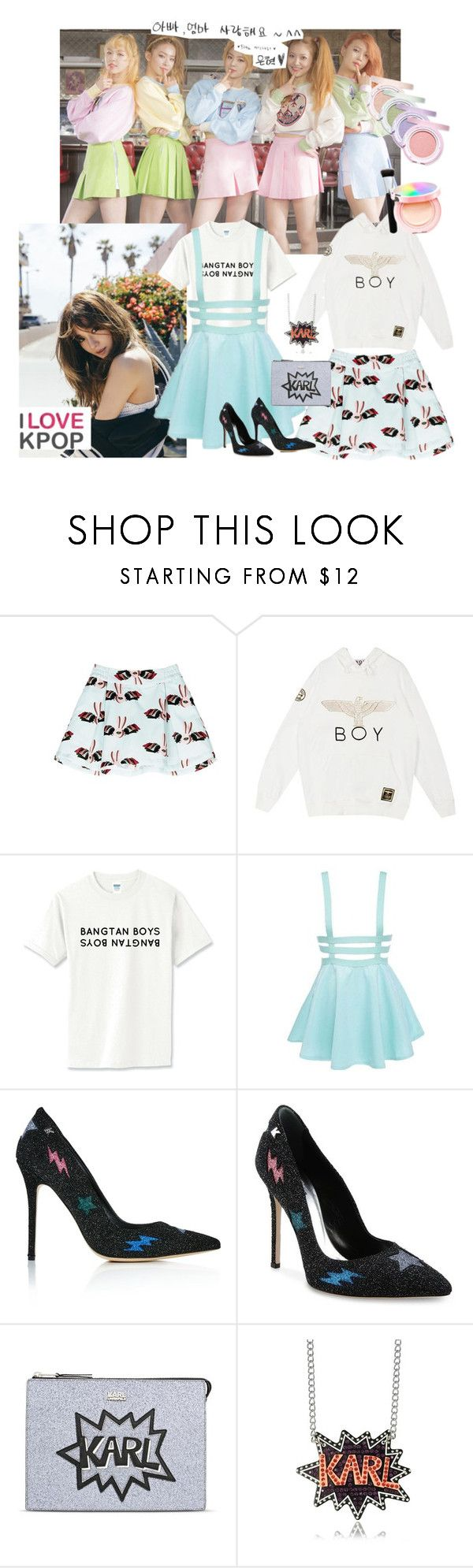 """""""Not now Karl!"""" by total-nicole ❤ liked on Polyvore featuring HELEN LEE, BOY London, Etude House, Karl Lagerfeld, contest and kpop"""