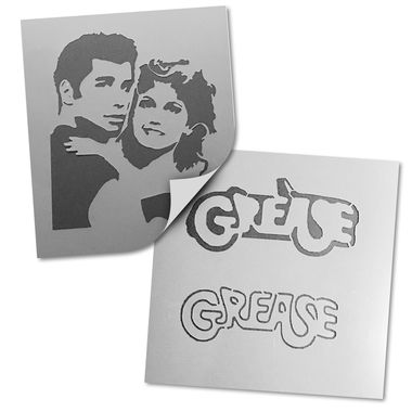 2 PCS Large Grease Movie Portrait and Logo Craft and Decorating Stencil Set