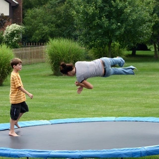 Remove rust from trampoline springs to keep it in good shape.