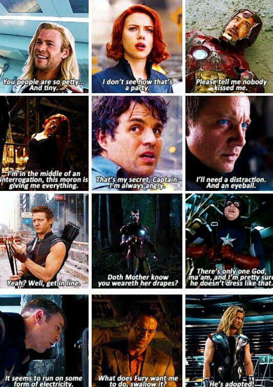 The Avengers - quotes