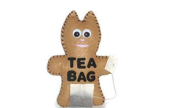 Cat plush tea bag mature adult prank gift by DarkPicketFence