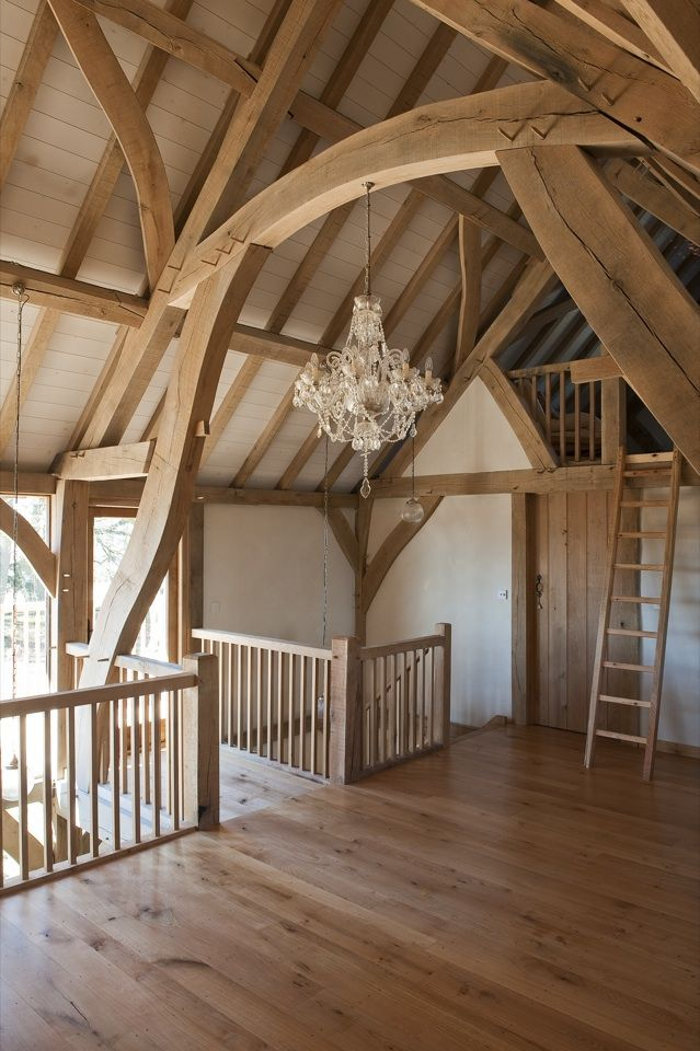 25 best ideas about timber frame homes on pinterest for Cruck frame house plans
