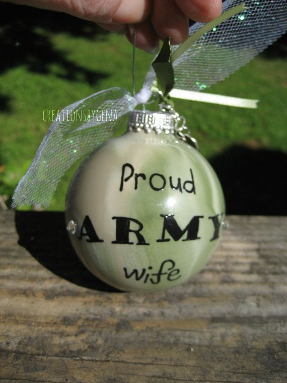 proud army wife camo christmas ornament