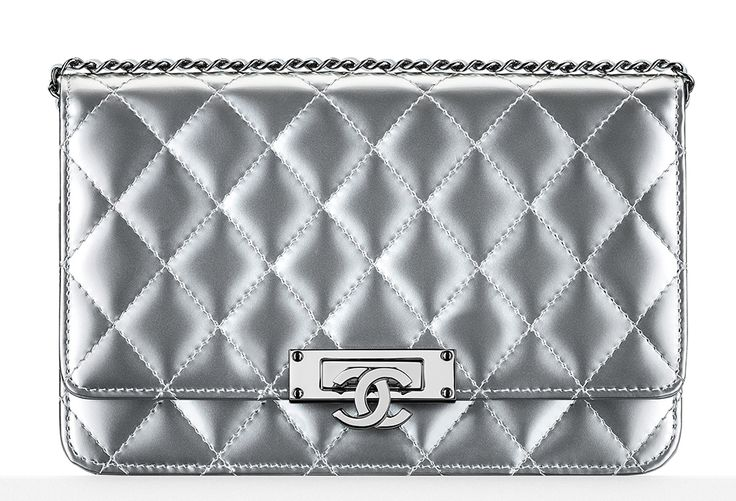Chanel Metallic Patent Wallet on Chain Bag
