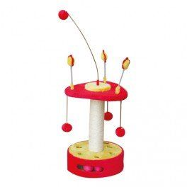 Cat Tree Scratching Post for Cats Red/Yellow