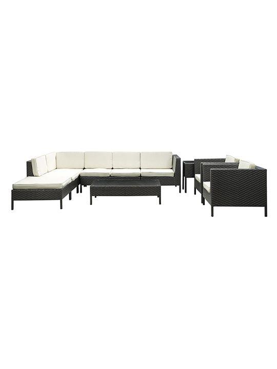 South Hampton 9 Piece Outdoor Sofa Set