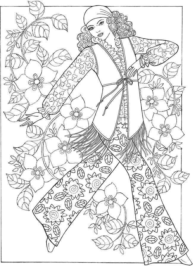 Creative Haven Fabulous Fashions of the 1960s Coloring Book ...