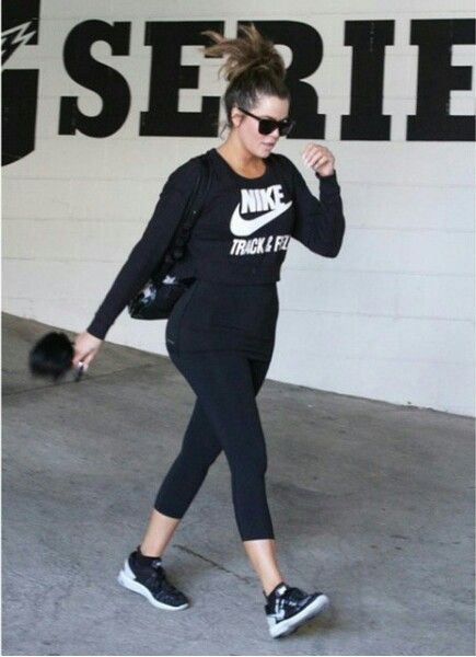 Khloe Kardashian Out Of The Gym Workout Outfit Nike ...