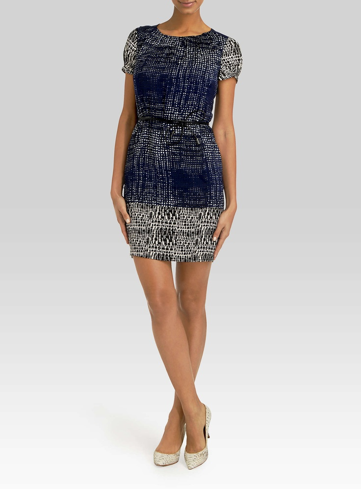 Stipple-print dress | Simons