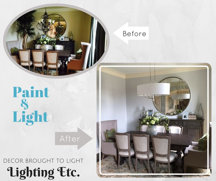 What A Difference A Change In Paint Color And A New Lighting Fixture Can Do  For