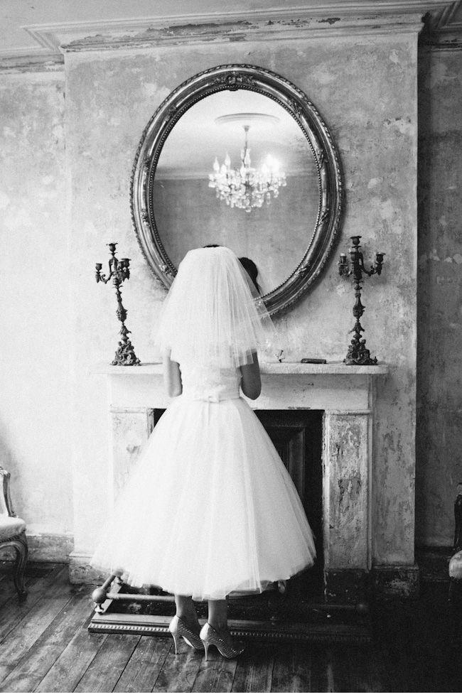 Castle Gibson MC Motors wedding / Candy Anthony dress / 1950s wedding dress / black and white portrait / film photography / Jodie Chapman photography