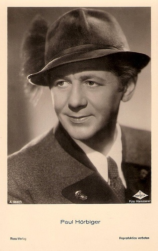 Actor Paul Hörbiger (1894-1981) belongs together with Hans Moser to the 'primary rock' of the Austrian cinema. His popularity was unique and was reflected in over 200 films.