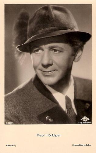 Paul Hörbiger Austria Schauspieler