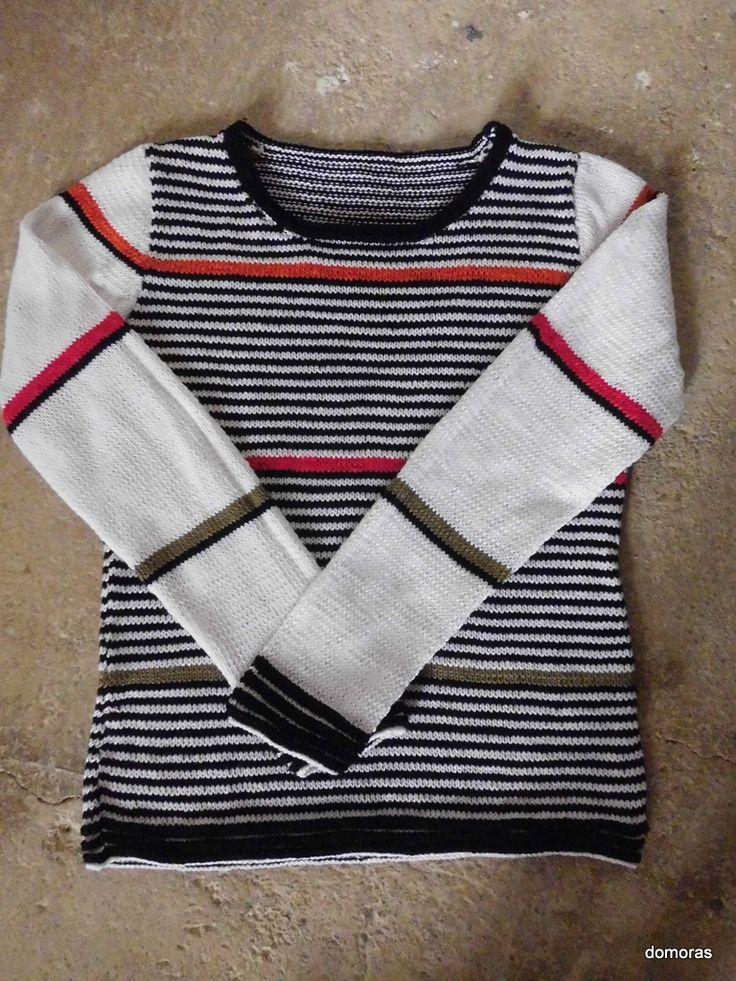 Spiegazione per fare maglia in cotone fine di domoras