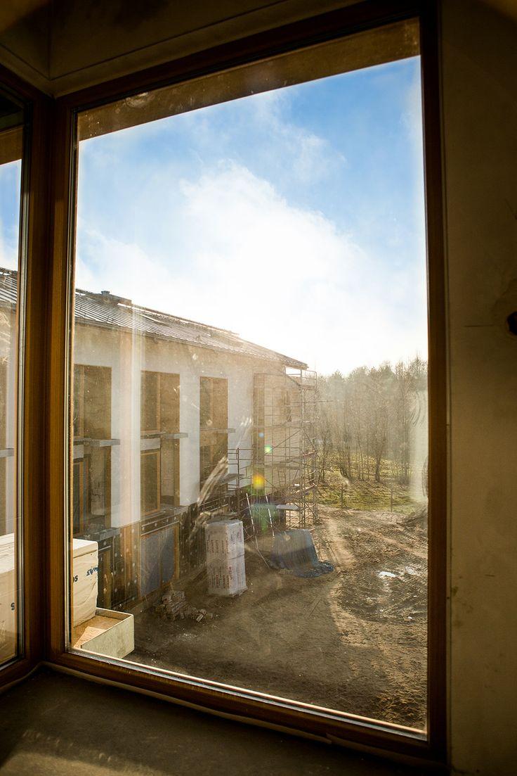 Widok z okna z jednego z pokoi Hotelu Matecznik