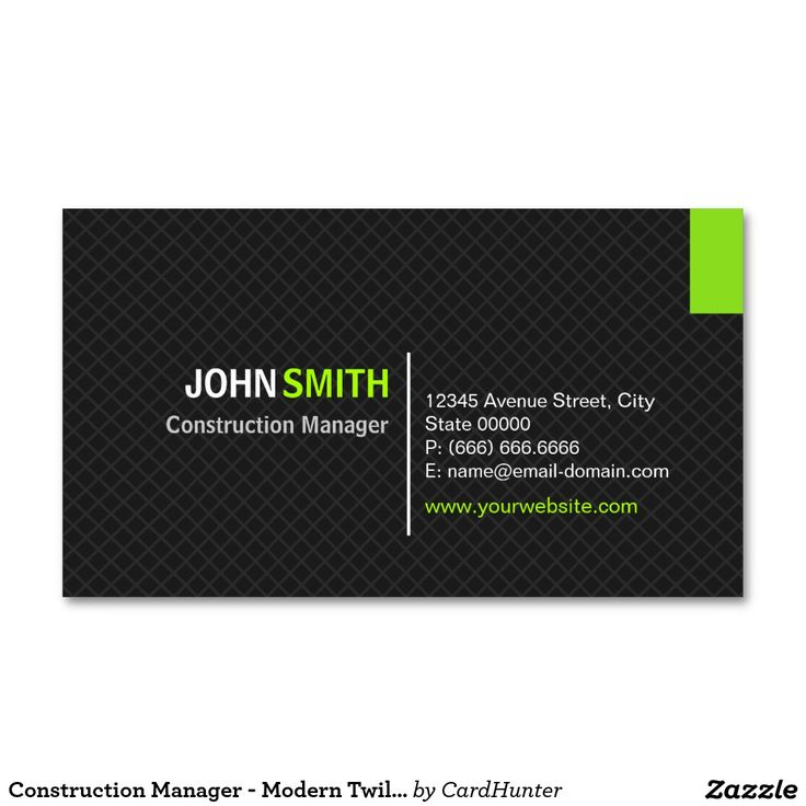 70 best business cards construction images on pinterest cartes construction manager modern twill grid business card reheart Gallery