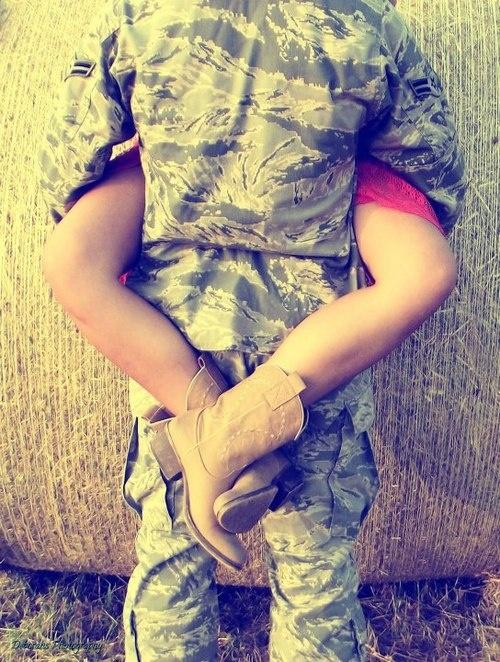 Cammies + cowgirl boots>>>>> #military #love @Clara Berkey  I figured you'd like this one!