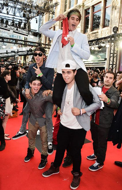 The Janoskians arrive at the 2013 Much Music Video Awards from sugarscape.com