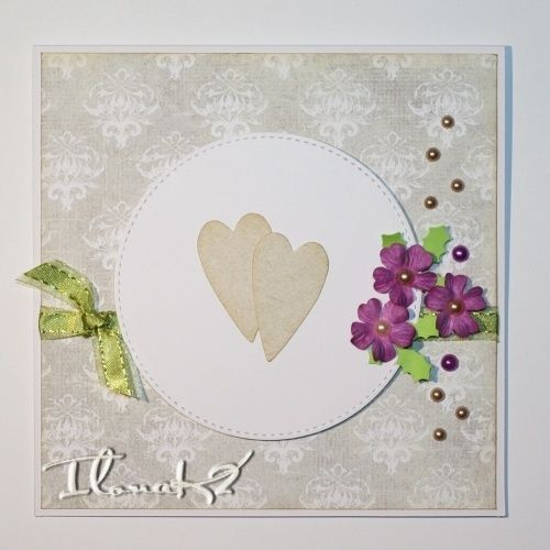 Klasické svatební přání v jemných barvách s výraznými květy