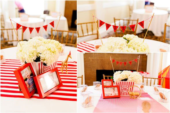 This Circus Themed First Birthday Party features tons of creative DIY ideas any mom can do!
