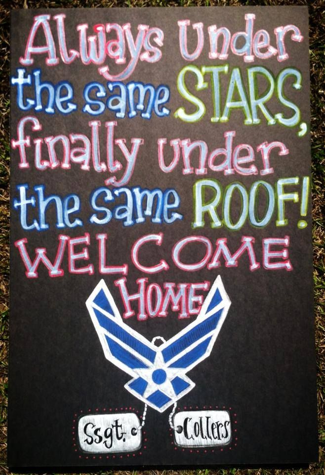 Military Welcome Home Chalkboard / Homecoming Sign / Welcome Home Sailor. Air Force / Chalk / Dog Tags / to view more boards or to order, visit www.facebook.com/charlestonchalkchick