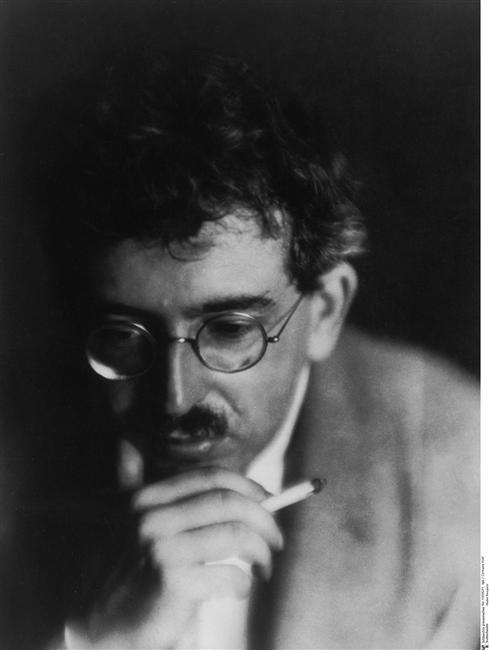 Walter Benjamin, 1926 by Germaine Krull.