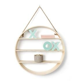 Round Plywood Wall Shelf good for new accessories