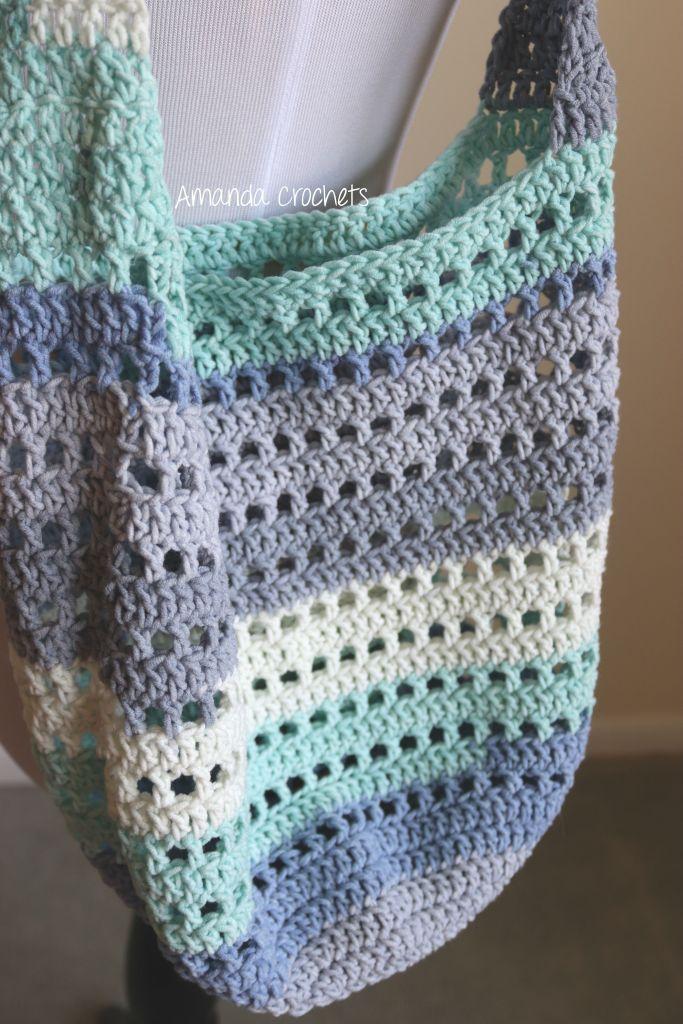Modèle De Sac De Marché Crochet Market Bag Crochet Tote