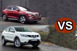 видео сравнение Hyundai Tucson и Nissan Qashqai