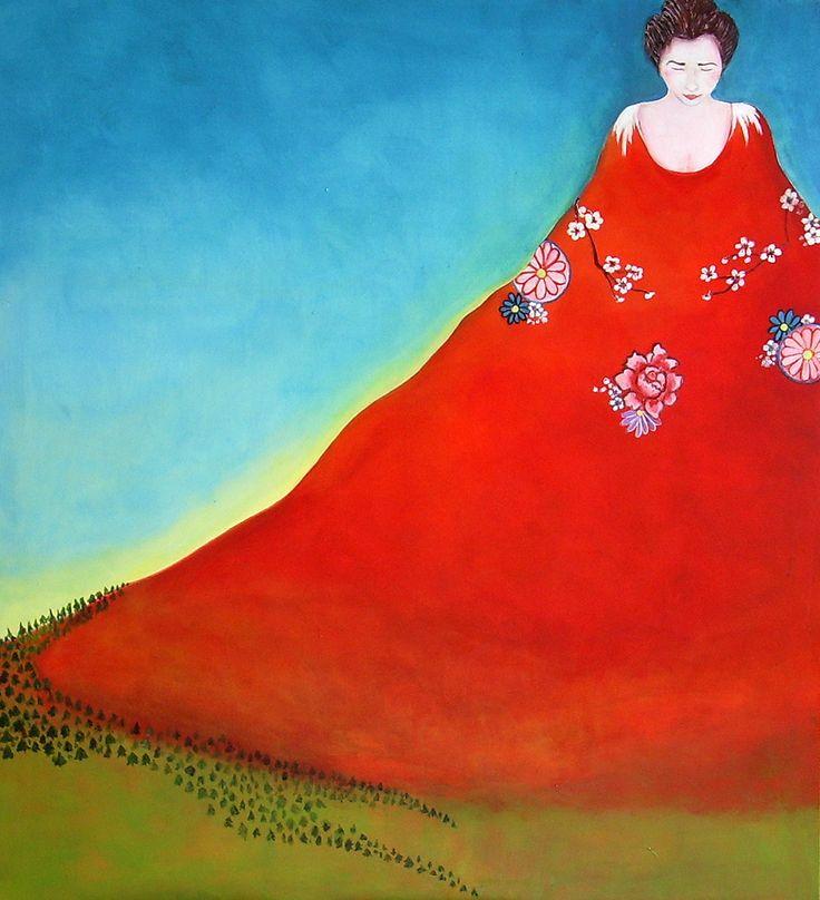 Painting: Geisha`s Peak 90x100cm on Canvas