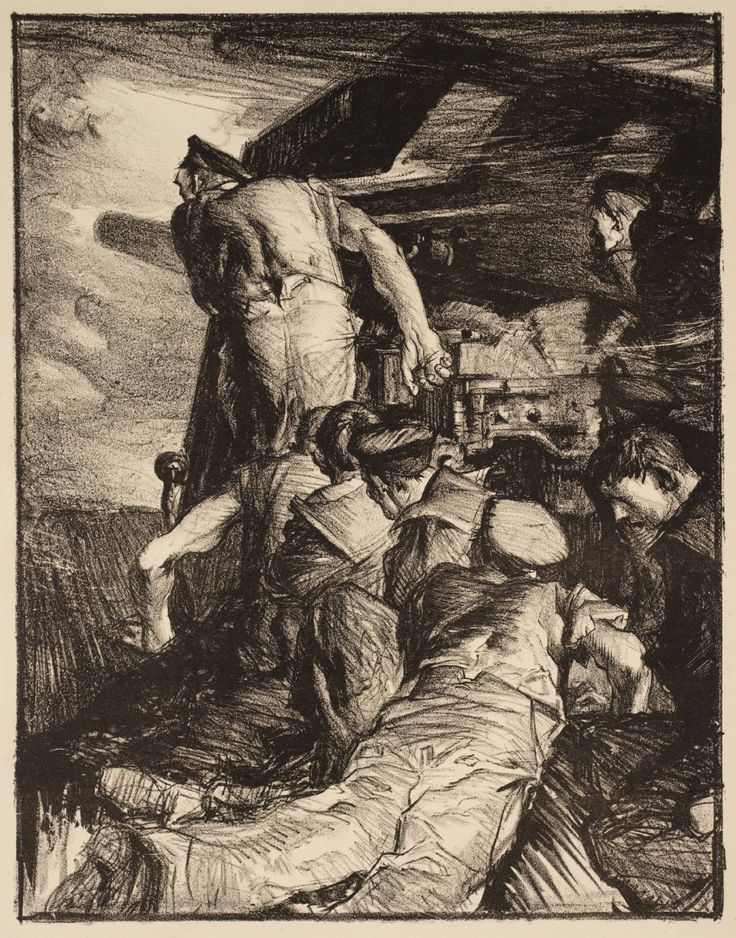 Frank Brangwyn - Making Sailors: The Gun - c.1917